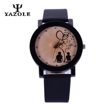 Couple Watch YAZOLE Lovers' Watch Men Women Fashion Quartz Wrist Watches Relogio PU Strap Leather Pin Buckle Wristwatch