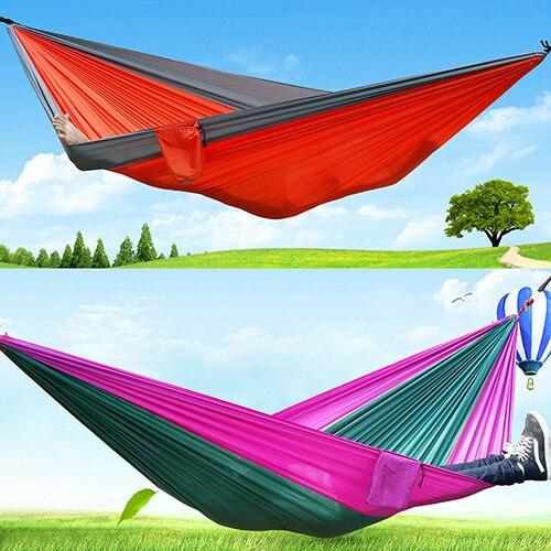 2016 New Portable Outdoor Traveling Camping Parachute Nylon Fabric Sleeping Bed Hammock 08WG