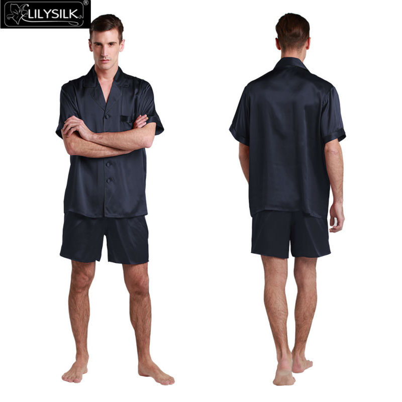 1000-navy-blue-22-momme-contrast-trim-short-silk-pyjamas-set