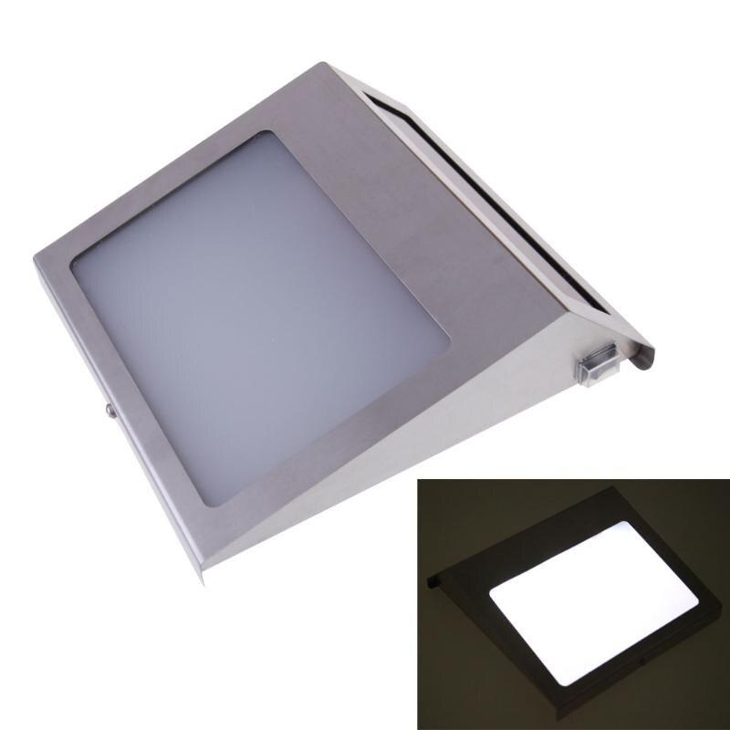 цена на 6000-7000K solar light Doorplate Solar Lamp Waterproof 3Led wall lamp outdoor lighting of Outdoor House Number lamp