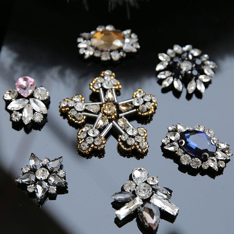 3pcs / παρτίδα Χειροποίητα διακοσμητικά σκουλαρίκια Ράχες ραμμένα σε νιφάδα χιονιού κεντήματα κεντήματα λουλουδιών για παπούτσια ιματισμού beaded sequin parch