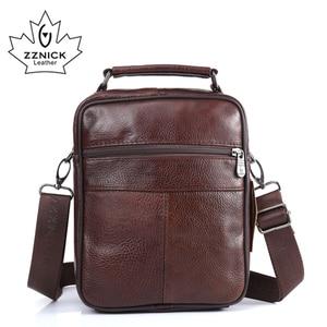 Image 3 - ZZNICK 2017 Men Bags Ipad Handbags Sheepskin Leather Male Messenger Purse Man Crossbody Shoulder Bag Mens Travel Bags  8101