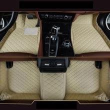 For BMW 5 Series GT F07 2010 2011 2012 2013 Car-Styling Custom Car Floor Mats for bmw 3 series f34 gt 2012 2019 rubber floor mats into saloon 5 pcs set seintex 86535