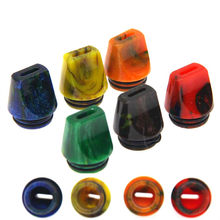 E-XY New Resin Driptip Flat Drip Tip 810 With 2 Silicon Rings For TFv12 Price TFv8 TFv8 Baby(China)