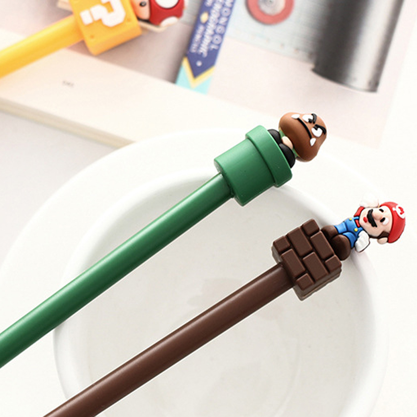 1pcs/lot Lovely Super Mario  Gel Pen Stationery For Kids Children Students Office School Supplies 0.5mm