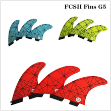 FCSII G5 M Size Surfboard Blue/Yellow/Red color Honeycomb Fins Tri fin set FCS 2 Fin Hot Sell FCS II Fin Quilhas fcsii g5 m size surf fins surfboard orange honeycomb fins fcs 2 carbon firbe fin new design fcs ii quilhas