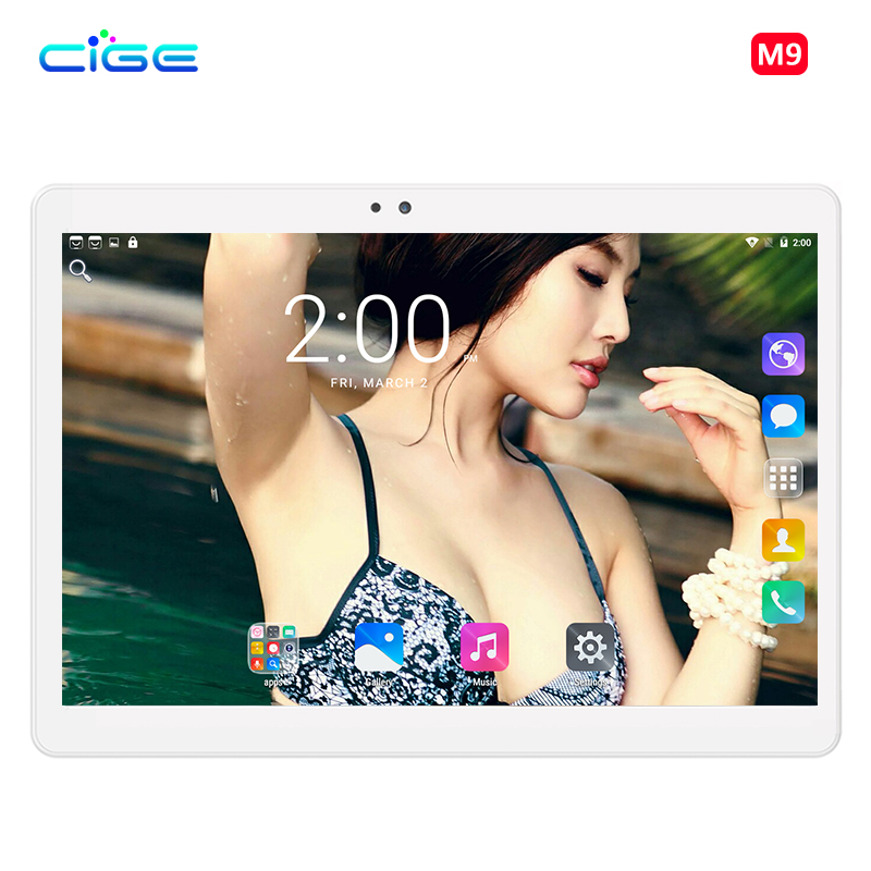 M9 2018 Octa Core 10.1 Inch Tablet PC 1280X800 Android 7.0 Tablets 4GB RAM Computer Dual SIM Bluetooth GPS  5.0 MP WiFi 10 russian 10 inch octa core android 5 1 tablets pc 4gb 64gb 1280 800 gps bluetooth fm 2 sim card phone call smart computer pad