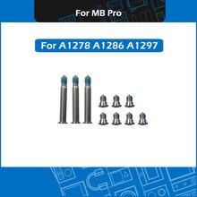"100 set/lote parafusos de cobertura base do computador universal para macbook pro 13 ""15"" 17 ""a1278 a1286 a1297 parafusos de caixa inferior 2008 2012"