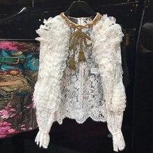 рубашка бисером блузка кружевная