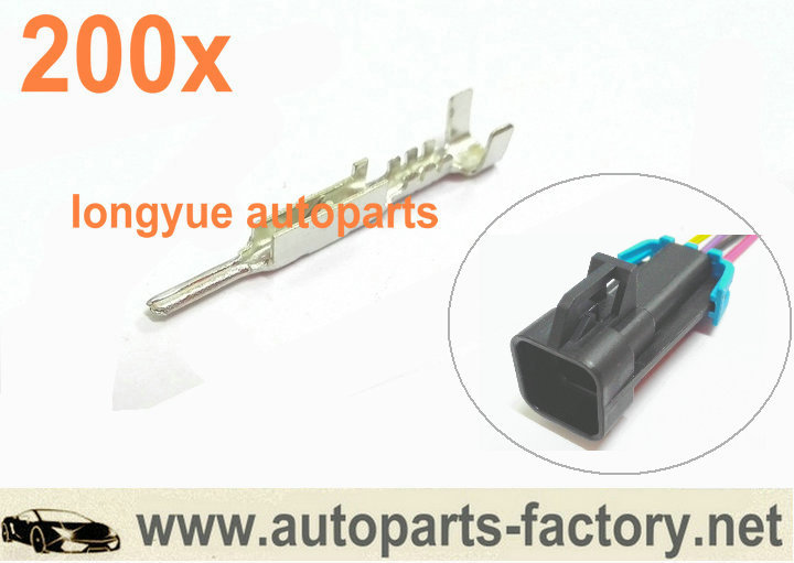 Longyue 200pcs Packard Metri-Pack 150 ( Metripack ) Male LS1 LS2 O2 Oxygen Sensor Connector Terminal Pins