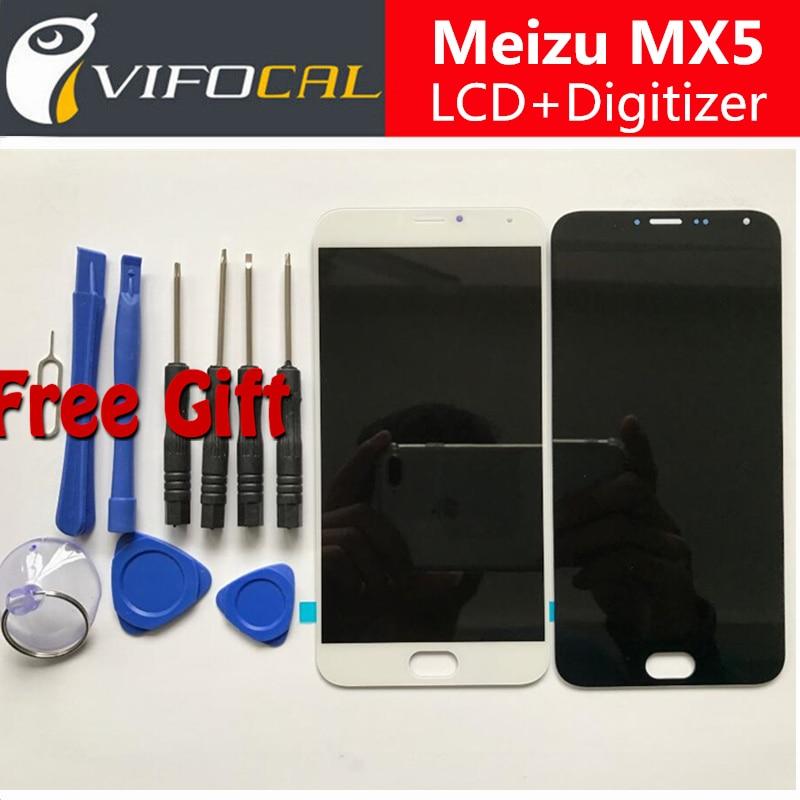 Para meizu mx5 fhd lcd display + touch screen + herramientas de alta calidad de