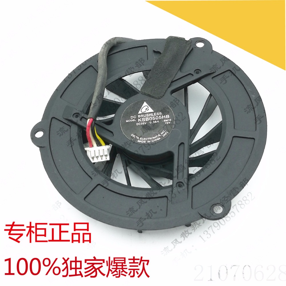 Delta KSB0505HB 6M10 FOX3ENA1TATA20 Server Cooling Fan DC 5V 0.36A 4-wire free shipping for delta afc0612db 9j10r dc 12v 0 45a 60x60x15mm 60mm 3 wire 3 pin connector server square fan