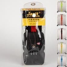 Verstellbare Sigle Gepäckgurte mit TSA Schloss Trolley Koffer Sicherheitsgurt Schloss Kombination Reisegepäck Koffer Band