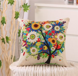 Image 2 - 40x40 Nordic Style Geometric Cushion Cover Polyester Pillowcase Cojines Decorativos Para Sofa Home Bedroom Sofa Decor
