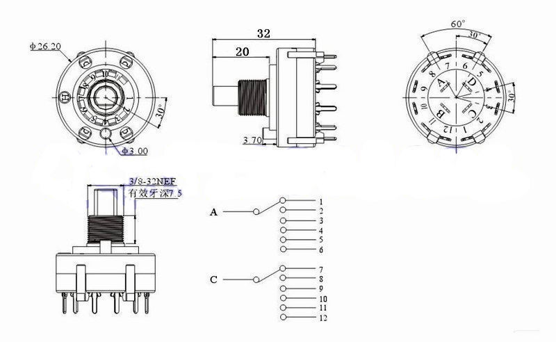 4 Pole 3 Way Rotary Switch Wiring Diagram | Wiring Diagram  Pole Position Rotary Switch Wiring Diagram on 240 volt baseboard heater wiring diagram, light switch and outlet wiring diagram, gfci circuit breaker wiring diagram, single pole contactor wiring diagram,