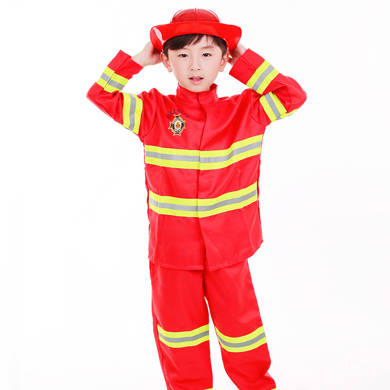 Cosplay Costumes Role Fireman Playing Professional Worker Primary And Secondary School Students cos game