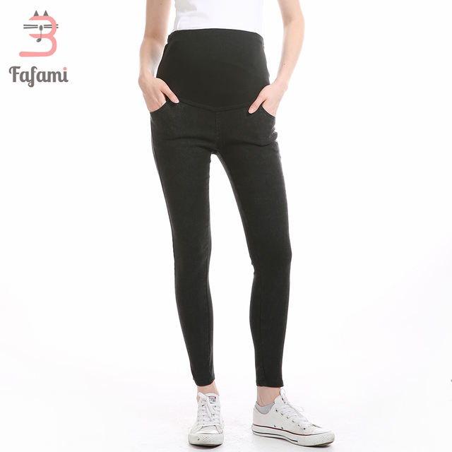 5790f03d80c10 Maternity Jeans Skinny Pants Capris for pregnant women Plus High waist  leggings pregnancy clothes winter maternity
