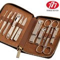South Korea 777 THREE SEVEN Manicure Set Nail Clipper Nail Tools Best Gift for Friend and Family, Total 11 pcs, NTS-8306