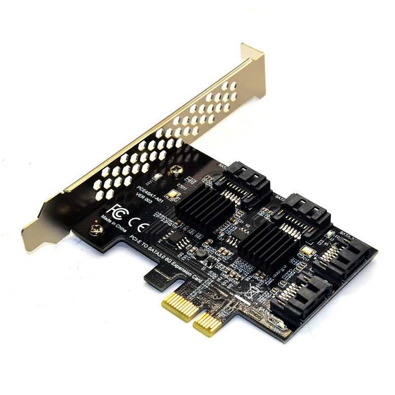 4 Ports SATA 6G PCI Express Controller Card PCI e to SATA III 3 0 converter