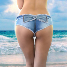 2017 Hot New Sexy Women's summer Shorts feminino Jeans denim Micro Mini Jean Ultra Low Rise Waist Short Clubwear  SY008