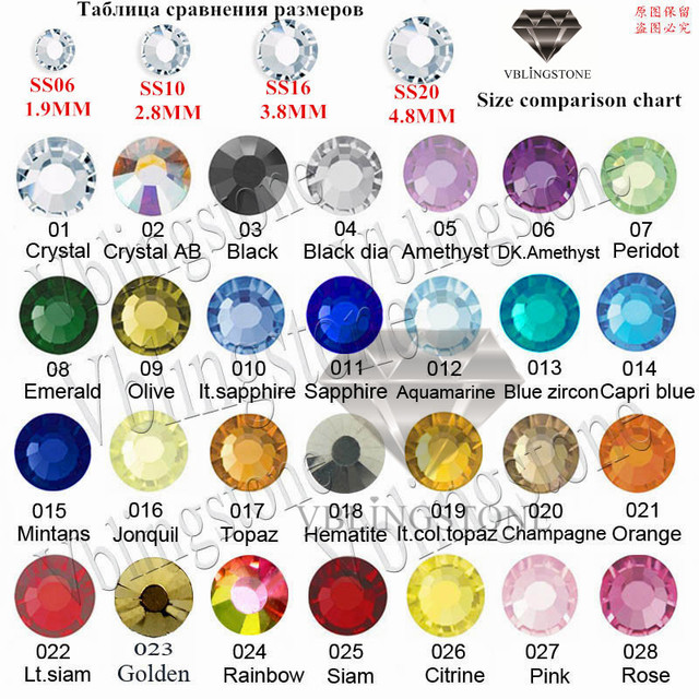 hotfix rhinestone ss6-ss20 DMC Hot Fix FlatBack Rhinestones Strass Crystal  ab glass many color size 4eed8ee8c5ee