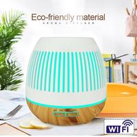 400ML WiFi Smart Ultrasonic Aroma Diffuser Humidifier Voice Control LED Timer Aroma Diffuser Essential Oil Diffuser Works Hot