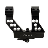 Tactical ohhunt Quick Detach AK Side Rail Scope Mount with Integral 25.4/30mm Ring For AK47 AK74 Black
