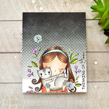 AZSG Cartoon Lovely Girl Cat Clear Stamps/Seals For DIY Scrapbooking/Card Making/Album Decorative Silicone Stamp Crafts