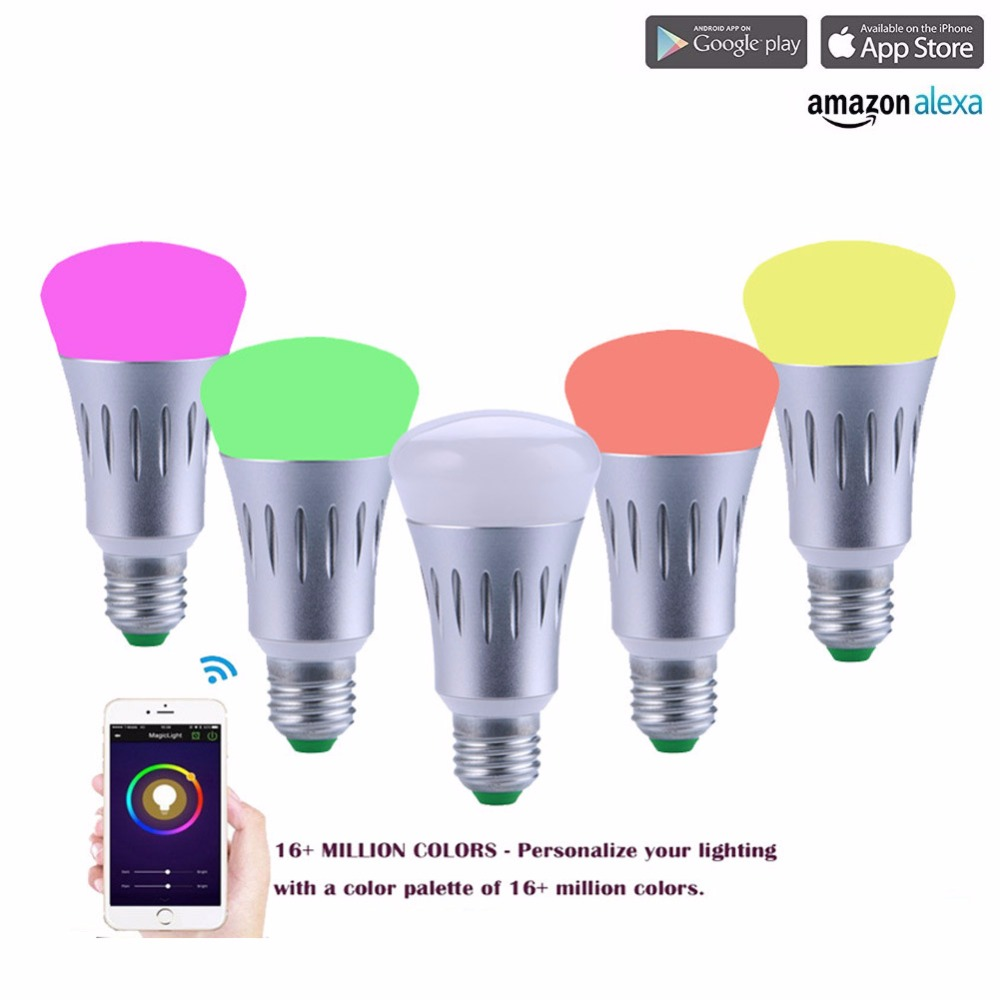 Ryham Smart LED Light Bulb Wi-Fi Dimmable RGBW Color Changing Party Lights Bulb Works with Amazon Echo & Alexa перфоратор dewalt d 25602 k