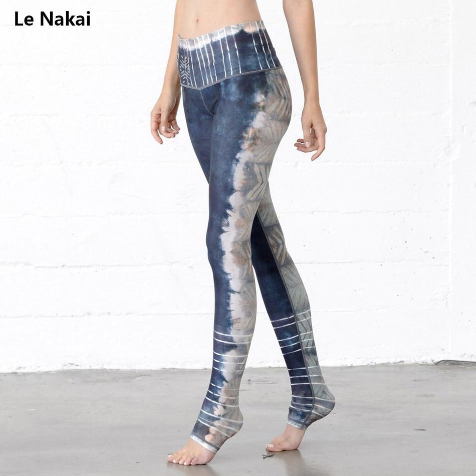 Women Yoga Pants Grey Abstract Art Printed Yoga Leggings Stripes Jogging Gym Running Tights Exercise Female Fitness Sportwear