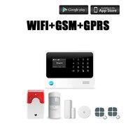 Chuangkesafe G90B Plus WiFi GSM Alarm System Sensor Kit English Spansih Russian Voice Wireless Andriod IOS