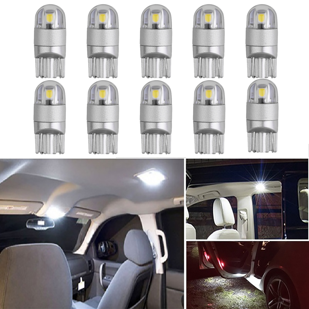 10Pcs T10 W5W LED Bulb Car Interior Reading Lights For <font><b>Peugeot</b></font> 206 407 508 406 308 2008 107 307 Partner 207 3008 <font><b>5008</b></font> 301 208 image