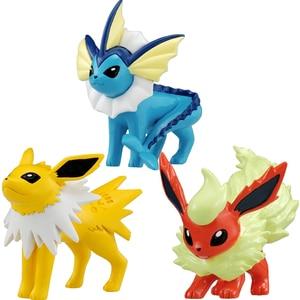 Image 5 - TAKARA TOMY Anime Eeveees Glaceon Vaporeon Jolteon Flareon Leafeon anime figuras Cartoon Action Figure Toys Gift for Kids