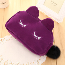 Cartoon Kawaii Pencil Case Cute Cat Plush Big Large Storage font b Bag b font For