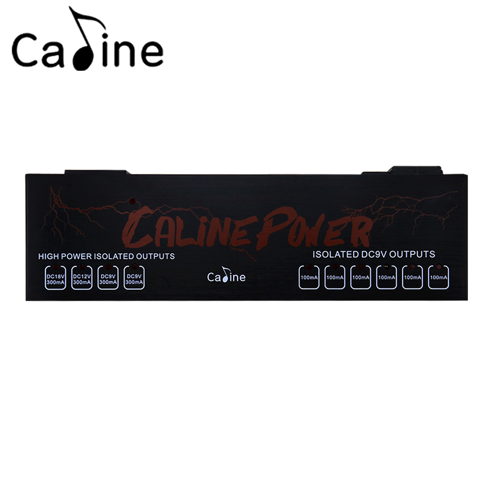 Caline CP-08 Isolated Power Supply 10 Isolated Outlets Power Output 9V/12V/18V Effect Pedal Power