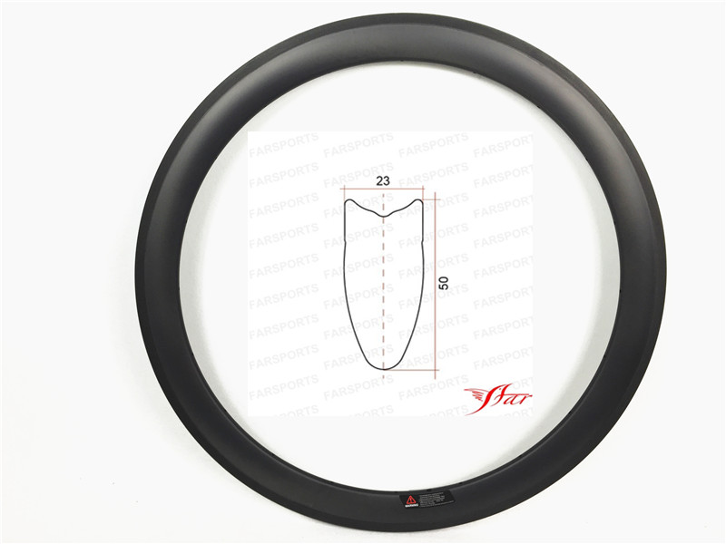 Road Farsports FSL50-TM-23 Tubular 50mm 23mm OEM U shape carbon rim, carbon fiber hand build bike tubular rimset 50 комплектующие к инструментам oem tm 18