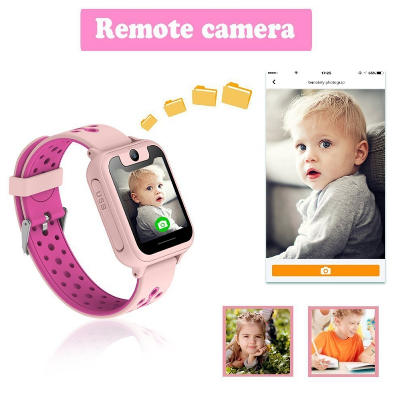 "Image 2 - Kids S6 Smart Watch GPS Tracker Watch HD 1.54"" Touch Screen Remote Camera Anti Lost SOS Alarm SIM Location Device Children watch-in Smart Watches from Consumer Electronics"