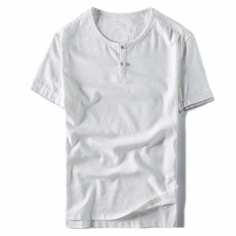 コットンリネンシャツ男性新しい到着夏薄い通気性クールストレート緩いシャツ男性カジュアルトレンドリネン服TS-260