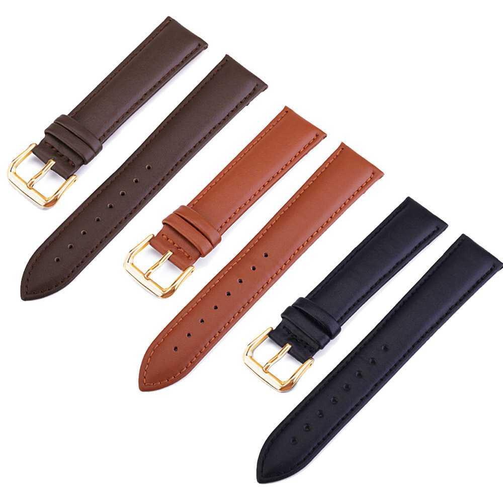 True color candy color leather strap 18MM for DW watch rose gold white button ladies watch band needle Buckle women Watchband