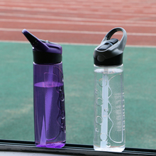 750ML Sports Water Bottle With Straw Plastic Eco BPA Free Portable Handle Water Bottle Travel Kettle