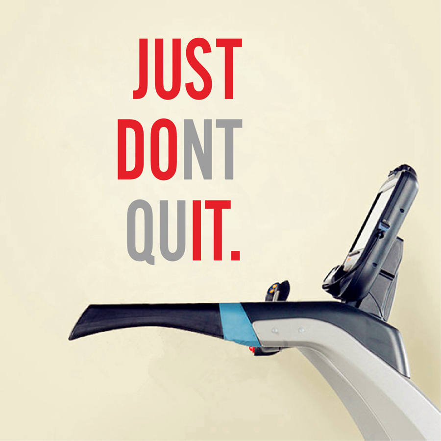 Fitness Gym Wall Sticker - JUST DO IT - Gym Wall Mural Posters Decals JUST DONT QUIT Decoration