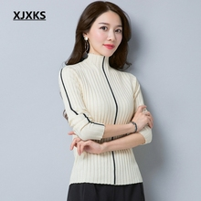 XJXKS young ladies high elasticity sweaters fashion 2018 women simple knit  wear pull femme jumper new b0e06e1a1