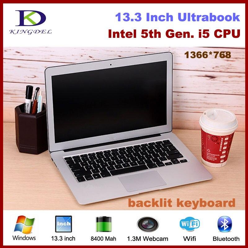 13.3 inch ultrabook Core i5 5200U  Generation CPU 8GB RAM 128GB SSD,Webcam Wifi Bluetooth, Mini laptop computer S60