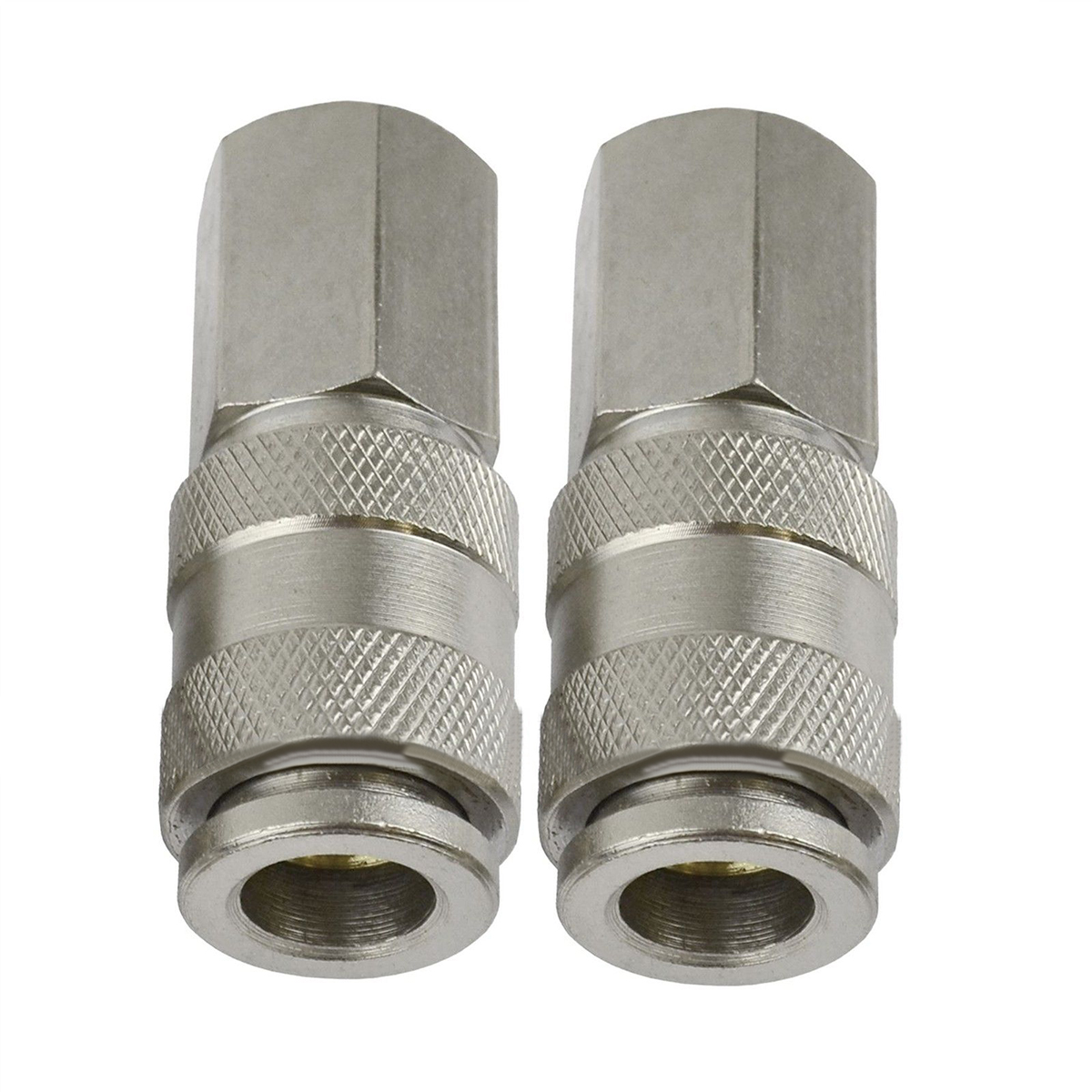 2pcs 1/4 BSP Female Euro Compressor Connectors Air Line Hose Quick Release Connector Fitting euro 1 4 bsp air line hose fitting coupling adapter hardening steel compressor connector quick coupler tool