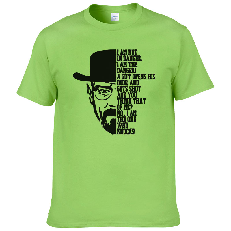 2016 Cotone T Shirt Stampata di Estate di Modo di Stile Manica Corta O-Collo Magliette BREAKING BAD T-Shirt Swag Uomini T camicie 10 t