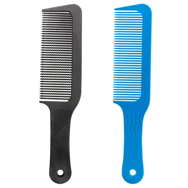 Pro 1 piezas de carbón antiestático 3D cortadora de pelo peine antideslizante mango de peluquería peine de pelo palo para uso profesional