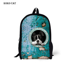 Kid Plain Bookbag 3D Animal Backpacks Pet Dog Cat Printing School Bag for Girls Boys Children Cartoon Rucksack Mochila Hombre forudesigns fashion men backpacks cool 3d animal tiger printing school backpack for teenage boys children mochila rucksack man