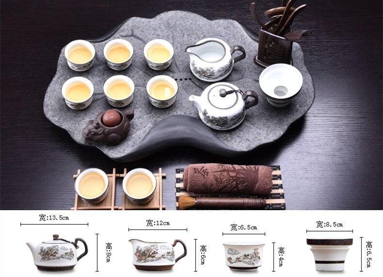 Handpainted Ceramic Gong Fu Tea Set 3