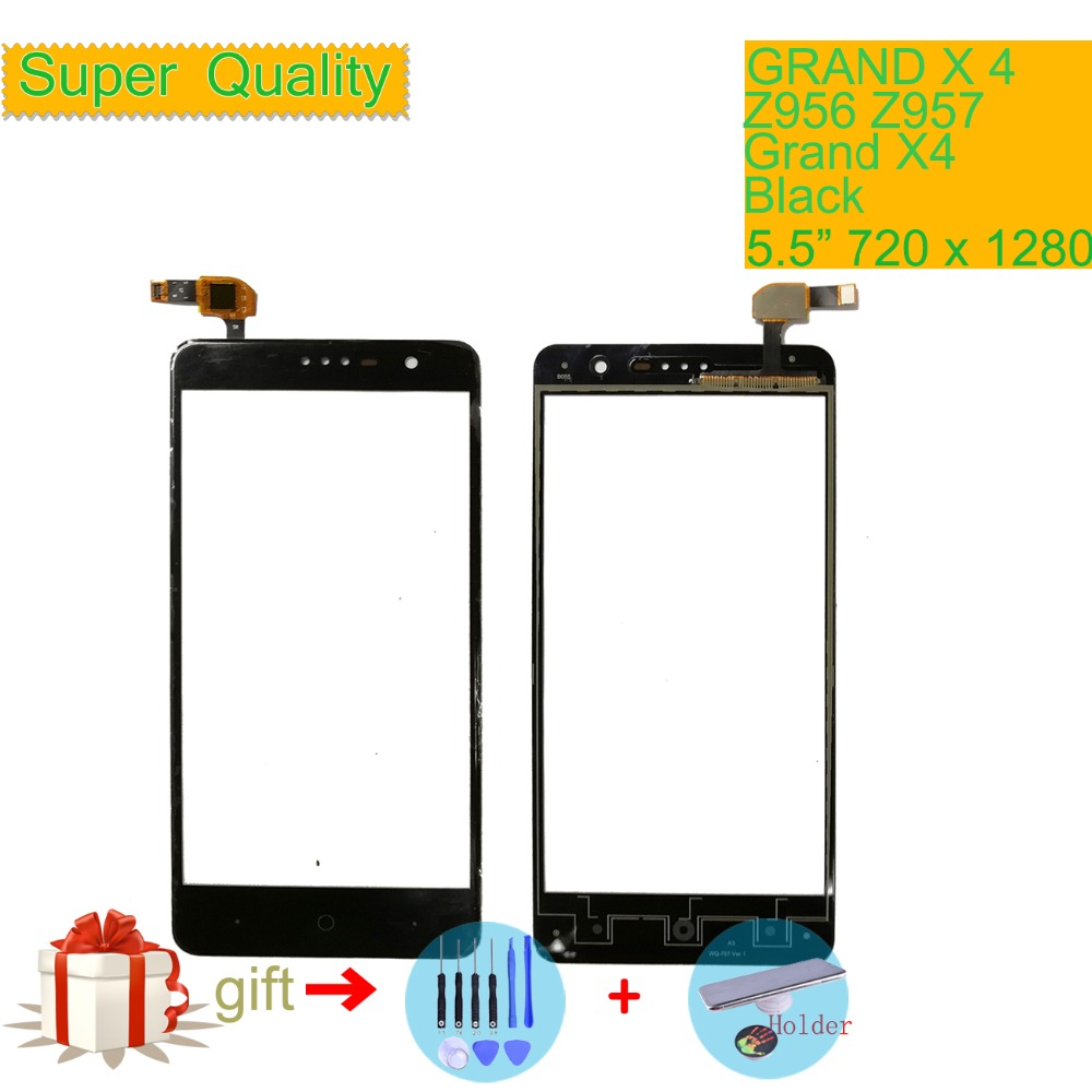 Touch Screen Digitizer For ZTE Grand X4 Z956 Z957 Touch Panel Touchscreen Lens Front Glass Sensor NO LCD Grand X 4 Touch Screen