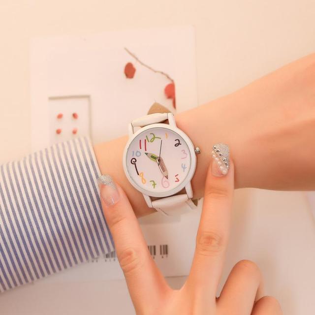 לשני המינים עסקים 2018 פשוט גבירותיי שעוני יד טמפרמנט יפה אופנה נירוסטה מזכרות נשים של קוורץ שעון # D